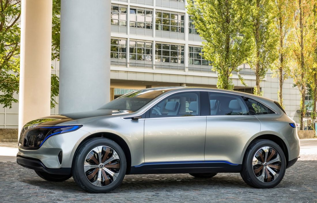 mercedes eqc 2019, mercedes benz electricos, mercedes generation eq
