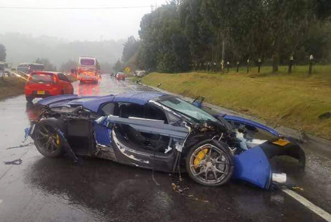 accidente mc laren 650s, accidente supercars tunja, mc laren 650s colombia, accidente supercars colombia